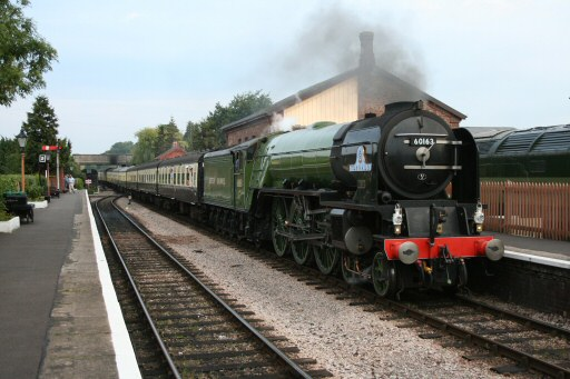 2010 - LNER 4-6-2 No. 60163 Tornado at Williton on 5 September. This work is licenced under a Creative Commons Licence. © Geoff Westley