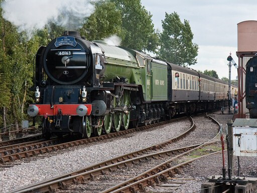 2010 - LNER 4-6-2 No. 60163 Tornado leaving Williton on 18 September. This work is licenced under a Creative Commons Licence. © Mike Dunse