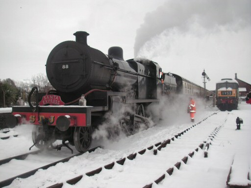 2010 - SDJR 2-8-0 No. 88 with the second Santa Express at Williton on 23 December. This work is licenced under a Creative Commons Licence. © Steve Johns