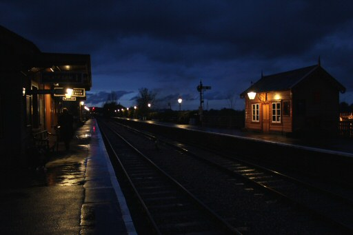 2010 - Williton Station at dusk on 14 November. This work is licenced under a Creative Commons Licence. © David Soper