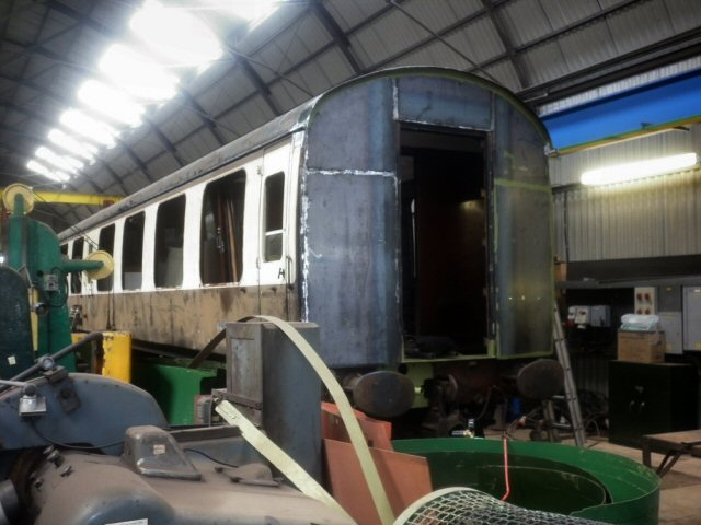 2011 - BR Mk1 No. 4419 undergoing overhaul at West Somerset Restoration, Williton on 25 June. This work is licenced under a Creative Commons Licence. © Dave Bagshaw