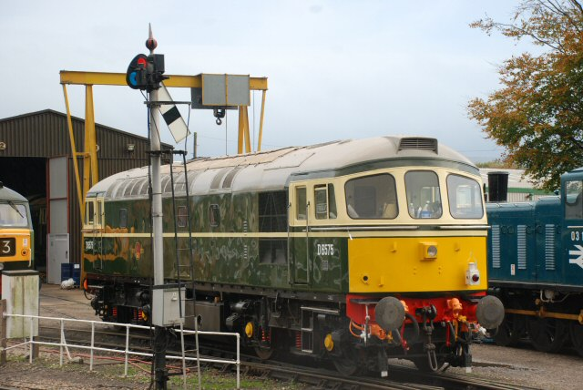 2011 - Class 33 No. D6575 at Williton on 29 October. This work is licenced under a Creative Commons Licence. ©Steve Hammond.