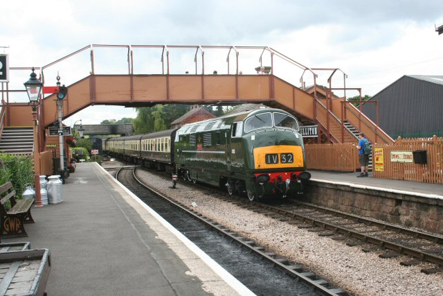 2011 - Class 42 Warship No. D832 Onslaught at Williton on 6 August. This work is licenced under a Creative Commons Licence. © Peter Nicholson