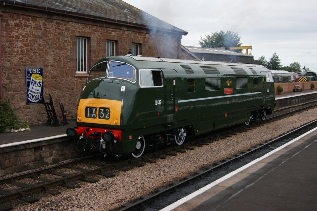 2011 - Class 42 Warship No. D832 Onslaught at Williton on 6 August. This work is licenced under a Creative Commons Licence. © Lee Robbins