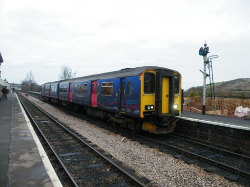 2011 - FGW class 150 DMU No. 150234 with the return Anniversary Special at Williton on 2 January. This work is licenced under a Creative Commons Licence. © Thomas Gulliford