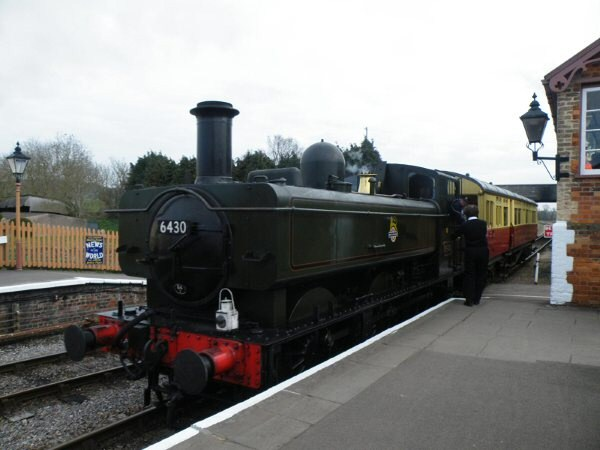 2011 - GWR 0-6-0PT No. 6430 and Auto Coach No. 167 at Williton on 22 March. This work is licenced under a Creative Commons Licence. © Thomas Gulliford