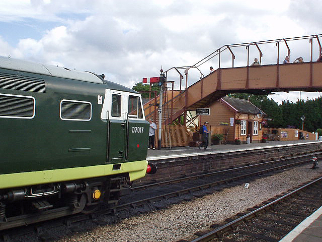 2011 - Hymek No. D7017 waiting at Williton on 3 September. This work is licenced under a Creative Commons Licence. ©Philip Gouldson