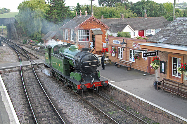 2011 - Visiting loco LNER 0-6-2T Class N2 No.1744 running light from Bishops Lydeard to Minehead on 22 September. This work is licenced under a Creative Commons Licence. ©Martin Hope