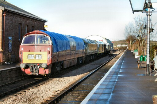 2011 - Nos. D1010, D1661, D7017 and D7526 at Williton on 8 January. This work is licenced under a Creative Commons Licence. © Edward Martin