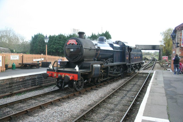 2011 - SDJR 2-8-0 No.88 runnining round its train whilst on Santa Express duties on 3 December. This work is licenced under a Creative Commons Licence. ©Peter Nicholson