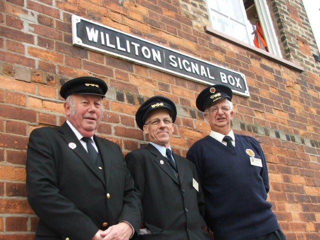 2011 - Some of the station staff at Williton on 26 March. This work is licenced under a Creative Commons Licence. © Tony Down