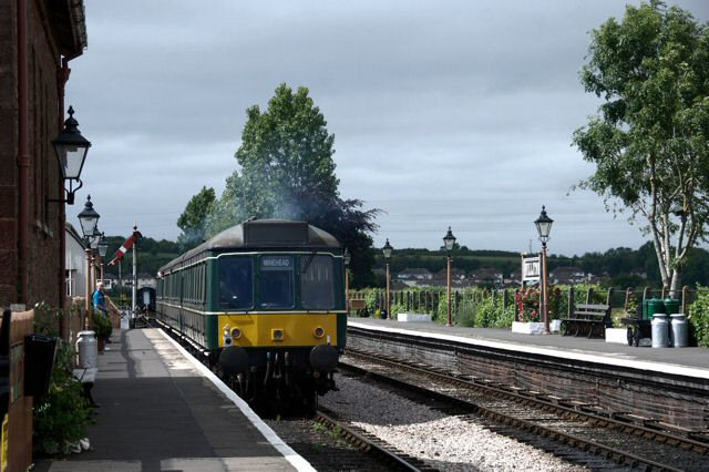 2011 - The DMU sets off from Williton on 25 June . This work is licenced under a Creative Commons Licence. © Bev Zehetmeier