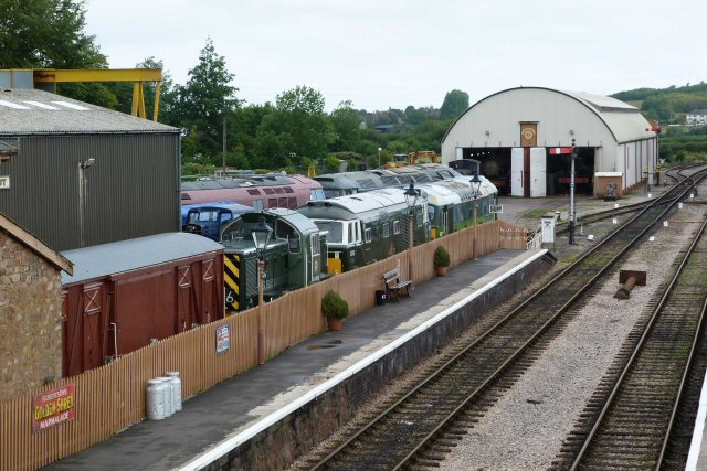 2011 - The South Yard at Williton is packed with diesel locos on 19 July. This work is licenced under a Creative Commons Licence. © Gerry Leyman