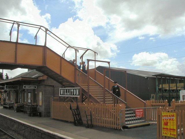 2011 - The footbridge nearing completion at Williton Station on 15 June. This work is licenced under a Creative Commons Licence. © Chris Osment