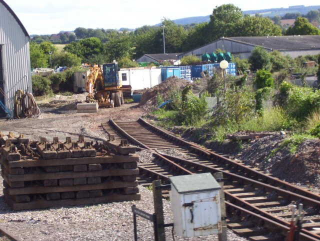 2011 - The new North Yard to Sherrings Yard siding under construction at Williton seen here on 23 July. This work is licenced under a Creative Commons Licence. © Martyn Snell