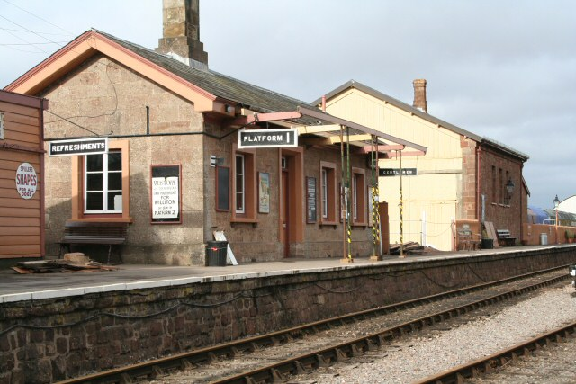 2011 - The rare sight of Williton Station without a full canopy. Recent discussions suggest it was last replaced in 1938. Seen here in early February. This work is licenced under a Creative Commons Licence. © Edward Martin