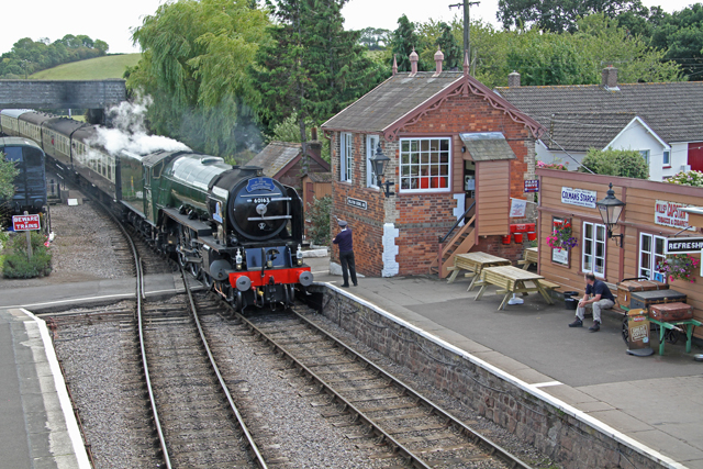 "2011 - A1 Pacific No.60163 ""Tornado"" at Williton on 27 August. This work is licenced under a Creative Commons Licence. ©Martin Hope"