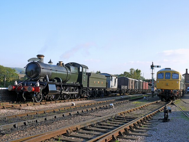 2011 - WSR 2-6-0 No. 9351 with a Steam Experience special at Williton on 14 October. This work is licenced under a Creative Commons Licence. ©Bradley Cottrell
