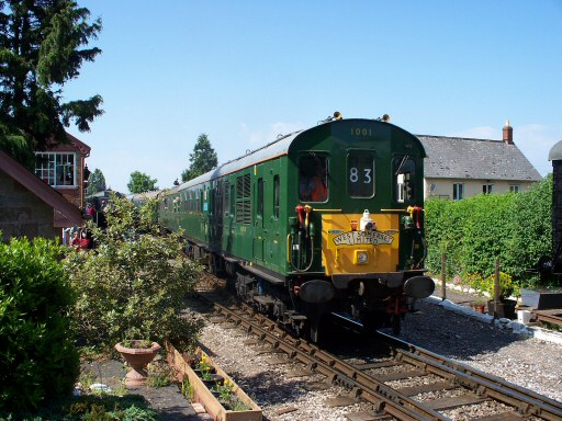 2010 - Hastings DEMU No.1001 with the 3.10pm Minehead to Hastings at Williton Level Crossing on 19 June. This work is licenced under a Creative Commons Licence. © Jon Tooke