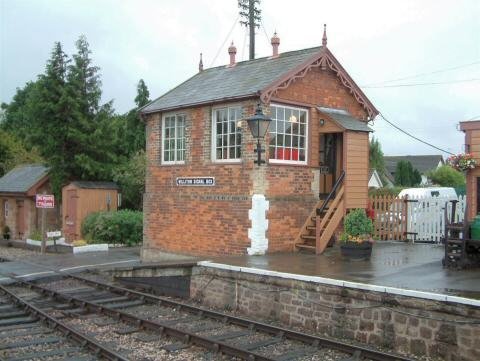2005 - Williton Signal Box on 8 October. This work is licenced under a Creative Commons Licence. © Andy Spencer