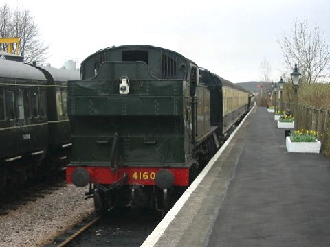 2003 - GWR Class 4160 2-6-2T at Williton on 9 March. This work is licenced under a Creative Commons Licence. © Matt Cambourne
