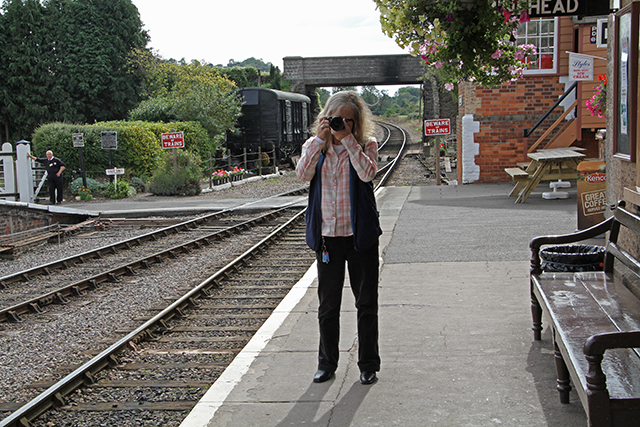 2011 - You've been framed! Often seen taking photographs but not usually featured on them. Beverley Zehetmeier caught on film at Williton on 24 September. This work is licenced under a Creative Commons Licence. ©Martin Hope
