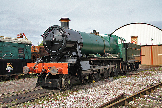 2011 - GWR No.6960 Raveningham Hall which had been pulled out from the Swindon Shed the previous evening ready for display at the Autumn Steam Gala. Seen on 25 September. This work is licenced under a Creative Commons Licence. ©Martin Hope
