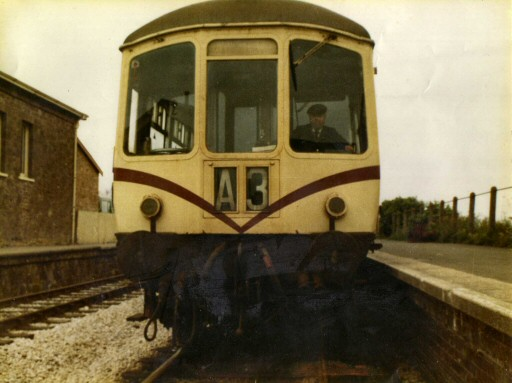 1980 - Park Royal DMU at Williton with Passed Fireman and DMU Driver Roger Hooper at the controls. This work is licenced under a Creative Commons Licence. © Unknown