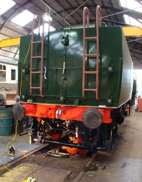 2011 - Progress with the tender for Braunton. Almost complete in the Swindon Shed Williton on 3 March. This work is licenced under a Creative Commons Licence. © Ray Waldron