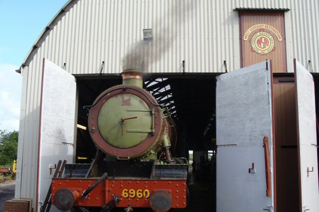 2011 - The first fire in GWR 4-6-0 no 6960 Raveningham Hall following its successful hydraulic test last weekend. Seen here on 9 July 2011. This work is licenced under a Creative Commons Licence. © Ray Waldron