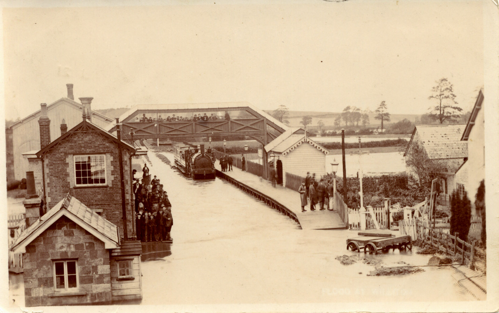 1877 - Williton Station Flooding. ©The John Alsop Collection