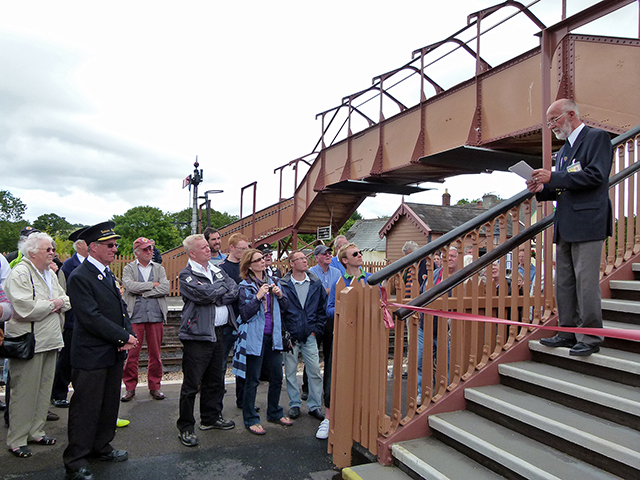 2011 - Williton Station Footbridge Official Opening -John Parsons (Project Leader) addressing the guests on 16 July 2011. This work is licenced under a Creative Commons Licence. © Beverley Zehetmeier