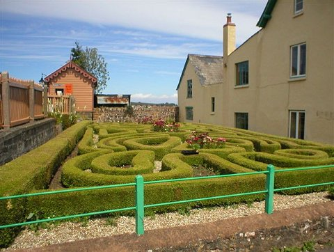 2002 - The maze adjacent to Williton Station. This work is licenced under a Creative Commons Licence. ©Unknown