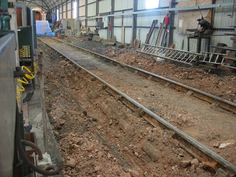 2002 - Swindon Shed at Williton - prepared for concreting in December. This work is licenced under a Creative Commons Licence. © JA