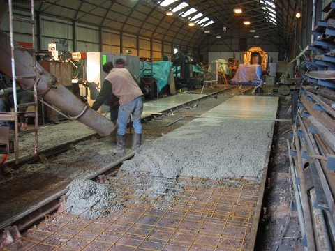 2002 - New floor for the Swindon Shed at Williton on 17 December. This work is licenced under a Creative Commons Licence. © JA