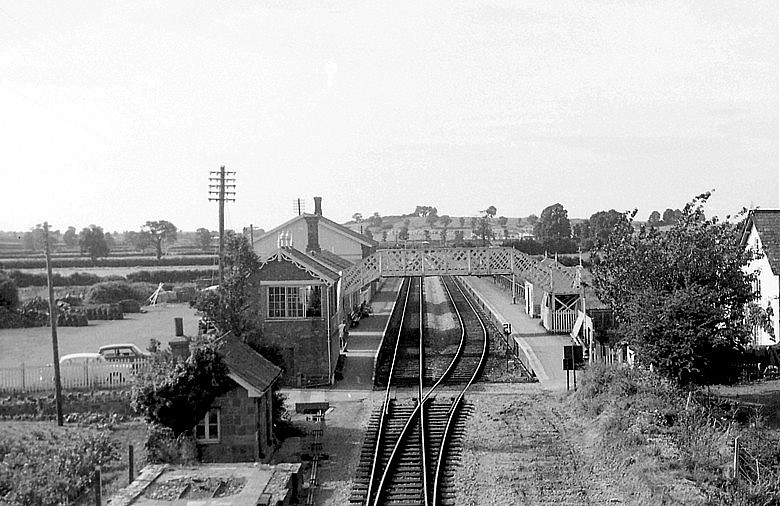1968 - Williton Station footbridge just prior to removal. ©RCTS - The Courtney Haydon Collection
