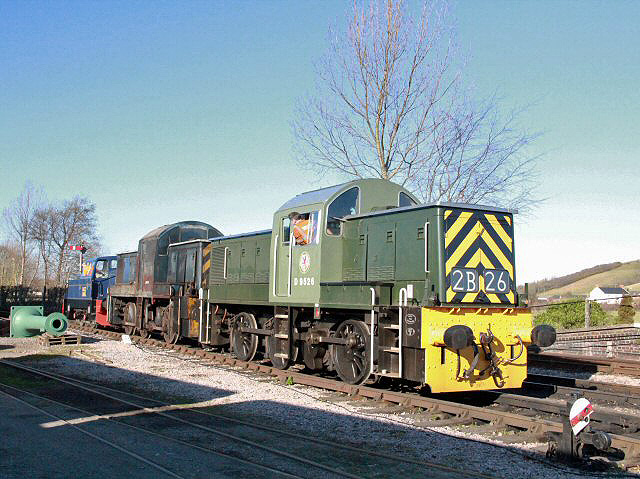 2012 - The first ever picture of Class 14 Nos D9518 and D9526 together at Williton on 26 February. 2012 - Class 14 No. D9518 at Williton on 26 February. This work is licenced under a Creative Commons Licence. ©Brad Cottrell