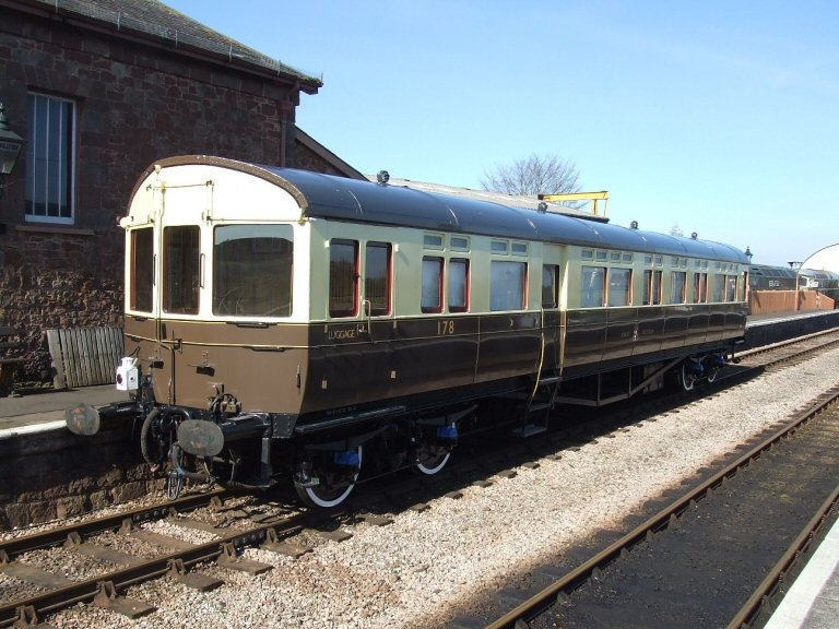 2013 - Autocoach No. 178 standing at Williton and ready for duty at the Spring Gala. Seen here on 14 March. This work is licenced under a Creative Commons Licence. © Ray Wadron.