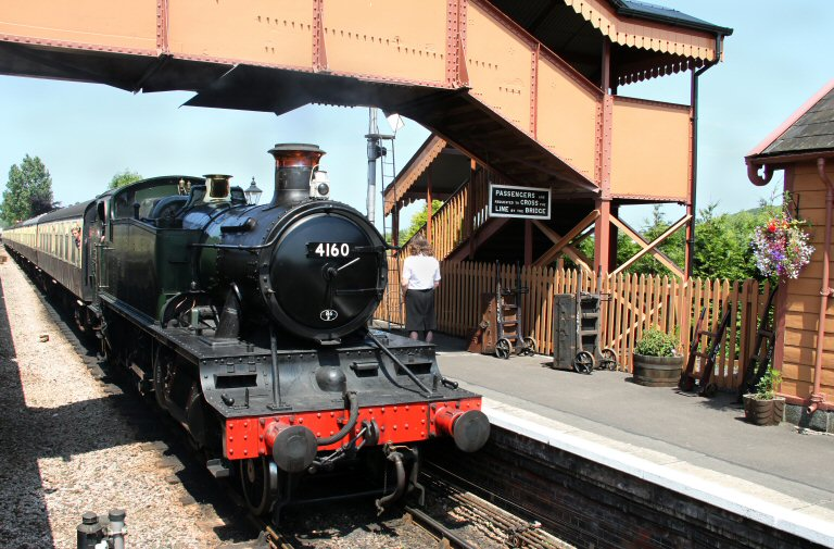 2013 - BR(W) 2-6-2T No. 4160 at Williton on 5 July. This work is licenced under a Creative Commons Licence. © David Soper.
