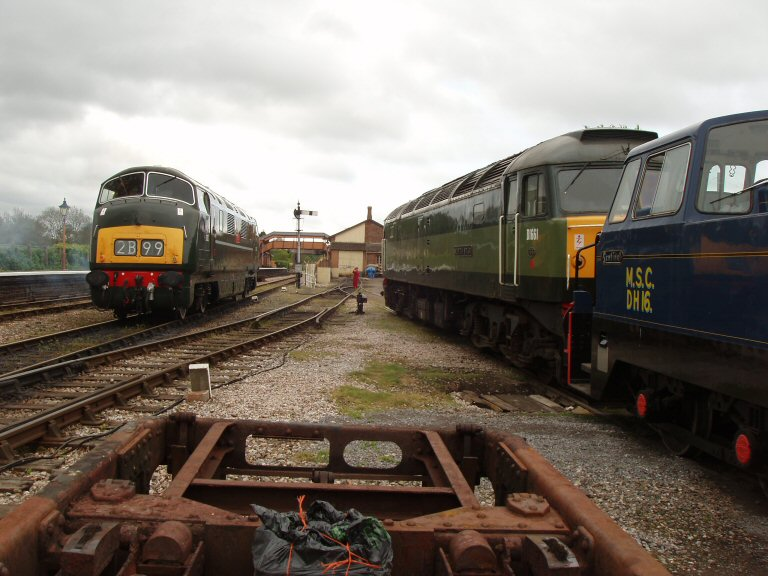 2013 - Class 42 No. D832 'Onslaught waits to leave Williton to commence running trials on 11 May. This work is licenced under a Creative Commons Licence. © Malcolm Anderson.