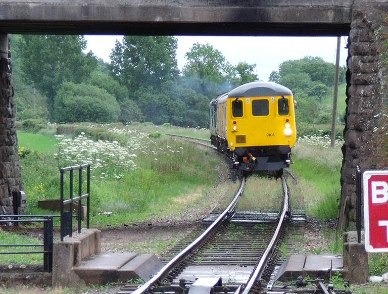 2013 - DRS Class 37 No. 37603 propelling the Ultrasonic Test Train at Williton Bridge on 12 June. This work is licenced under a Creative Commons Licence. © Martin Southwood.