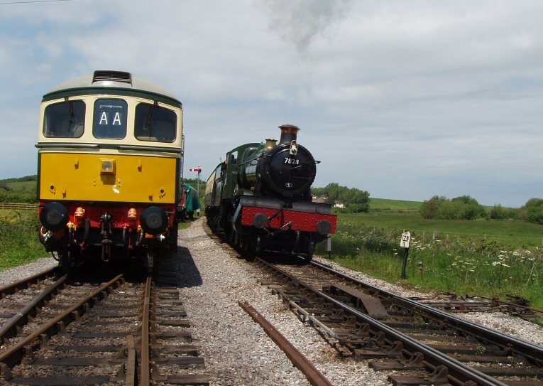 2013 - GWR 4-6-0 No. 7828 'Norton Manor' on the approach to Williton on 2 June. This work is licenced under a Creative Commons Licence. © Malcolm Anderson.