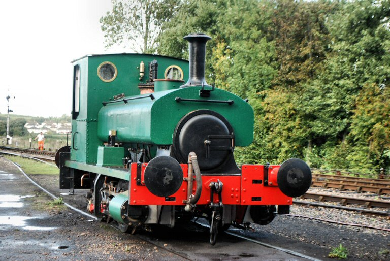 2013 - Ryan Pope's Andrew Barclay 0-4-0ST No. 1219 at Williton North Yard on 25 October. This work is licenced under a Creative Commons Licence. © John Crocker.
