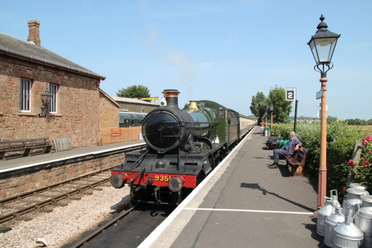 2013 - WSR 2-6-0 No. 9351 waits time at Williton Station on 16 July. This work is licenced under a Creative Commons Licence. © Simon Bacon.