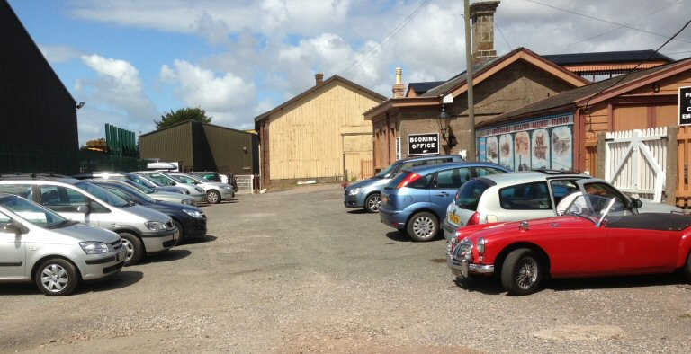 2013 - The Car Park at Williton Station is full at midday on 12 August. This work is licenced under a Creative Commons Licence. © Robin White.