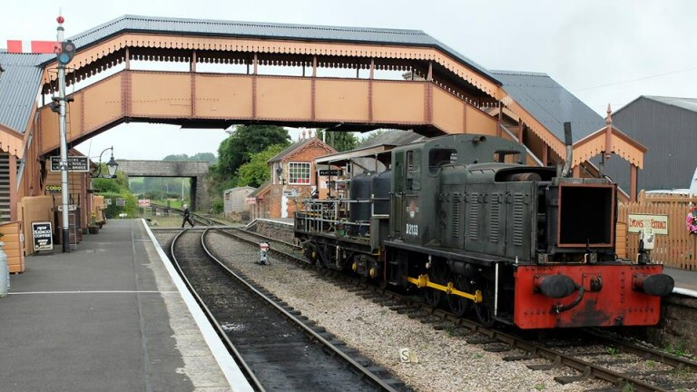 2014 - Class 03 No.D2133 with the Weedkilling Train at Williton on 27 August. This work is licenced under a Creative Commons Licence. © Bev Zehetmeier.