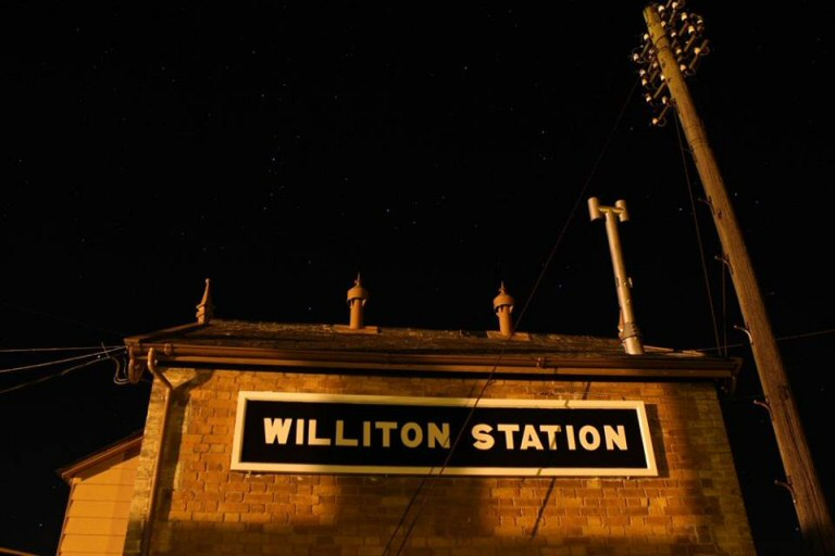 2014 - The stars shining brightly over Williton Signal Box on the evening of 23 November. This work is licenced under a Creative Commons Licence. © Mike Collins.