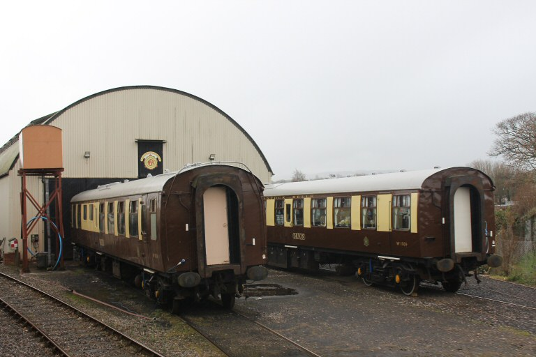 2104 - Two of the 'Quntock Belle' vehicles in the North Yard Williton on 20 February. This work is licenced under a Creative Commons Licence. © Peter Nicholson.