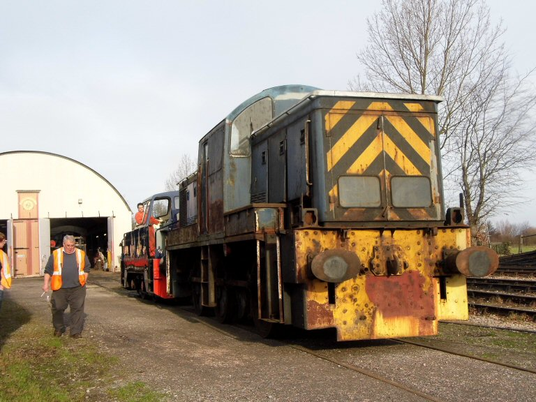 2013 - A scene at Williton South Yard during a shunting session on 5 January. This work is licenced under a Creative Commons Licence. © Thomas Courtney.