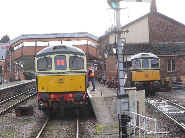 2013 - A southern scene at Williton with Class 33s Nos. D6575 and D6566 on 5 January. This work is licenced under a Creative Commons Licence. © Thomas Courtney.